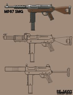 here are some rough concepts for mods for fallout weapons I've designed, no real gameplay ideas behind them but was a focus on visuals. Fallout Weapons, Sci Fi Weapons, Weapon Concept Art, Weapons Guns, Guns And Ammo, Fallout Lore, Punk Genres, Concept Art Gallery, Steampunk Weapons