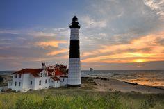 Big Sable Point Lighthouse, Ludington State Park, Ludington, Michigan (Lake Michigan)