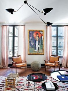 Inside a Chic Layered 19th Century Parisian Home ± on @SavvyHome
