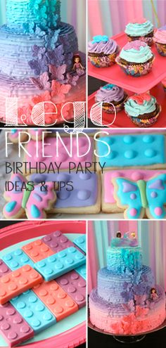lego friends party tips Girls Lego Party, Lego Movie Party, 5th Birthday Party Ideas, Girl Birthday Themes, Birthday Fun, Birthday Parties, Party Fun, Lego Friends Cake, Lego Friends Birthday