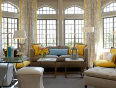 Another Beautiful Yellow And Gray Room.