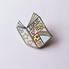 Comic book enamel pin lapel pin hat pin pin badge by MightyPop