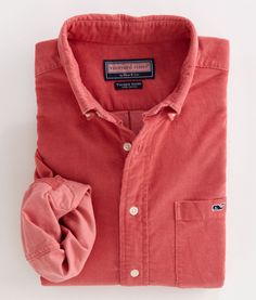 Corduroy Tucker Shirt. I would totally wear this. Men's button ups >>>