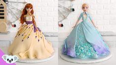 Frozen Doll Cake, Elsa Doll Cake, Anna Frozen Cake, Disney Frozen Cake, Elsa Birthday Cake, Frozen Birthday Party, 3rd Birthday, Elsa And Anna Birthday Party, Carnival Birthday