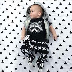 2016 Summer Baby Boy Clothes Hgih Quality Cotton Fox Printed Short Sleeve  2pcs Sets Kids Baby e399fd024
