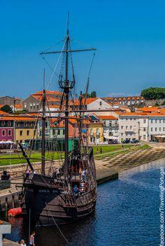 Nau Quinhentista, Vila do Conde, Portugal. Countries Around The World, Places Around The World, Around The Worlds, Visit Portugal, Spain And Portugal, Beautiful World, Beautiful Places, Fc Porto, Douro