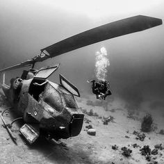 Can't say it enough. Let's say that we just love wrecks!😍😍  You can have amazing experiences like this one by going underwater, dive more, dive always, dive as soon as possible!  Diveasapp is going to make diving easy for everyone, stay tuned to discover more and in the meanwhile check our landing page www.diveasapp.com where you can register to get more information!  📸ivana.o.k Underwater Shipwreck, Underwater Ruins, Underwater Pictures, Underwater World, Abandoned Ships, Abandoned Buildings, Abandoned Places, Military Helicopter, Military Aircraft