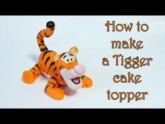 How to make a Tigger cake topper / Jak zrobić figurkę Tygryska z masy cukrowej - YouTube