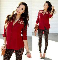 Look do Dia | Calça estampa onça Skinny Zara | Camisa Animale | Sapato Scarpin Schutz