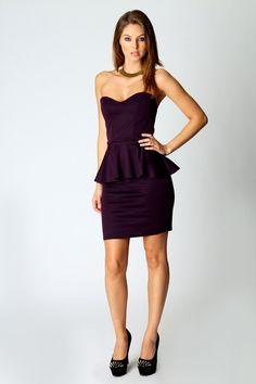 Sarah Sweetheart Peplum Dress, Love the plum colour!