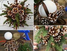 Hübsche Weihnachtsdeko Idee mit Tannenzapfen