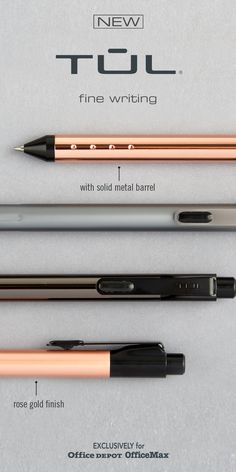 A superior fine writing experience. Now available in luxurious rose gold finish. Writing Pens, Diy Wood Projects, Happy Planner, Household Items, Things To Buy, Thoughtful Gifts, How To Make Money, Arts And Crafts, Rose Gold