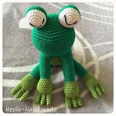 Nephi-Handmade - Frosch gehäkelt, crochet frog