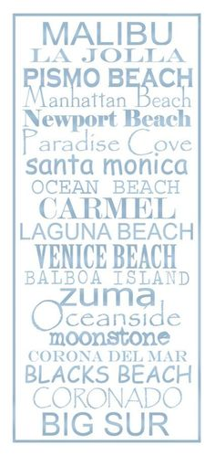 ~~California Beaches Print by PaperBleu~~