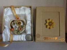Bomboniera Cuore fiori coccinella fortuna Segnaposto collezione