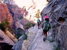 :Hidden Canyon trail- zion national park. Denny and I hiked this, I was so scared on some parts.