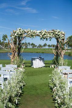 Driftwood and Hydrangea Wedding Arch