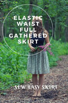 Elastic waistband full gathered skirt sewing tutorial – ZanziBach šūšanas apmācību studija