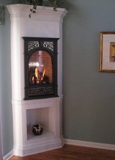Newest Photos small Corner Fireplace Suggestions Corner fireplaces supply range benefits to folks having meeting spaces wonderful and also small. Using underused areas, Corner Fireplace, Bedroom Corner, Small Space Living, Small Corner, Diy Fireplace, Small Gas Fireplace, Gas Fireplace, Living Spaces, Small Fireplace