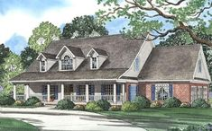 Southern Plan: 3,179 Square Feet, 4 Bedrooms, 3.5 Bathrooms - 110-00266