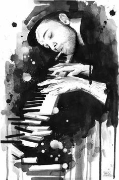 "# art.  I love the way he is so lost in the music.  Reminds me of one of my favorite movies ""Shine""!"