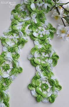 Spring Fling Scarf Crochet by Alla Koval $4.95