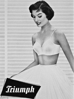 When fuller figures reigned supreme: This conical creation reflected the Fifties fashion for a full bust and wide hips