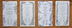 Made these menu card illustrations for Kinfolk Magazine, double click on the picture to see a bigger version / Kinfolk Dinner serie. http://www.anmulder.blogspot.nl/