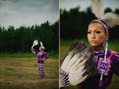 Chayla Delorme Maracle, Jingle [Dress] Dancer at Saddle Lake Powwow By Claudine Gladue Photography.