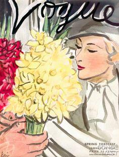 Vintage Vogue covers 1930-1950