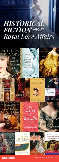 Historical fiction books about royal love affairs. Featuring suspense and romance, these books will transport you from England to Egypt.