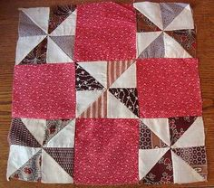Beautiful Set of 20! Antique 1880s Double Pink Pinwheel Quilt Blocks | eBay, vintageblessings
