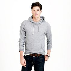 "The kind of sweatshirt that comes to mind when you think ""classic."" Made with 100 percent cotton and cut to be comfortable (not baggy), it's finished with a kangaroo pocket, which comes in handy when you need a place for your phone during a morning run or a movie marathon. <ul><li>For the taller guy, this hoodie is 2"" longer in the body and sleeves.</li><li>Cotton.</li><li>Rib trim at cuffs and hem.</li><li>Kangaroo pocket.</li><li>Machine wash.</li><li>Import.</li><li>Online only.</li></ul>"
