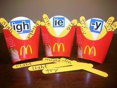 This is great for practicing the sight words with the y ending. They know what fries are so they'd know how it's supposed to sound like.