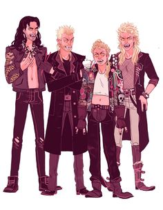 Lost Boys by Sara Kipin Lost Boys Movie, The Lost Boys 1987, Lost Boys Costume, Boy Costumes, Sara Kipin, Dramas, Alex Winter, Real Vampires, Fan Art