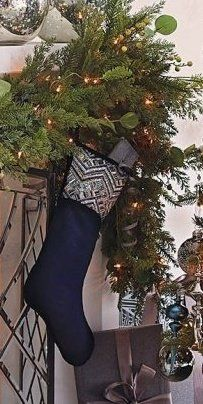 The intricate, blue and white delft-inspired pattern on our stocking was created by skilled artisans who hand sew hundreds of crystals and beads in place. The design is made more spectacular by the contrasting dark blue velvet background, which allows it to truly come through.