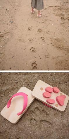 Animal footprint sandals!