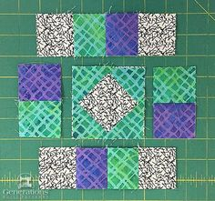 """Susannah Quilt Block: 4"""", 6"""", 8"""" and 12"""" finished"""