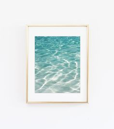 Ocean waves print - Sea photography print - Wavey water photo print - Modern home decor - Printable art - California wall art - Beach decor