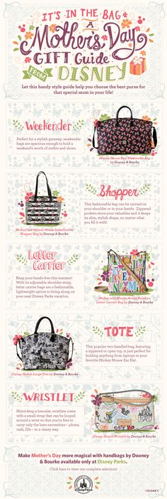 Mother's Day Gift Guide from Disney! Check out these Dooney & Bourke bages themed to your favorite Disney characters! #WaltDisneyWorld