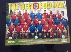 """LARGE 23 x 16"""" Football TEAM picture/poster ENGLAND, Terry Venables, Wright Etc   eBay"""