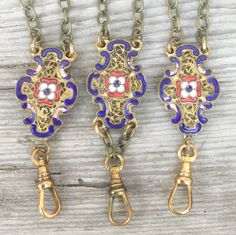 Antique Enamel lanyards❤️