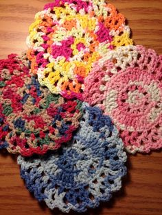 Multicolored Handmade Crocheted Circle by HoffmanHandicrafts, $6.00