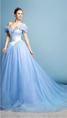 Beautiful Blue Gown! I think this is Cinderella's dress