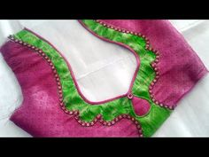 Very beautiful patchwork blouse back neck design cutting and stitching /blouse designs - - Latest Blouse Neck Designs, New Saree Blouse Designs, Chudidhar Neck Designs, Blouse Designs High Neck, Patch Work Blouse Designs, Simple Blouse Designs, Stylish Blouse Design, Hand Designs, Dress Designs