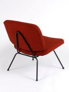 Pierre Paulin; Enameled Metal Frame Easy Chair for Thonet, 1956.