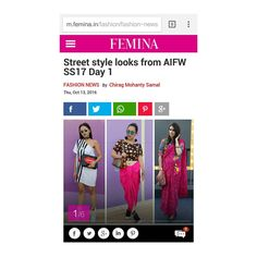 #featured in @feminaindia magazine for my streetstyle look on day 1 of #AIFWSS17 ! 🙋🙋🙋💓💓💓#lilmissgurungblog #lilmissgurung #wiw #bloggerstyle #bloggersquad #aifw #fashionweek #fashionblogger #blog #blogger #fashion #streetstyle #nath #dhotiskirt #ootd #ootn #personalstyle #indianfashion #featured #femina #cofxaifw