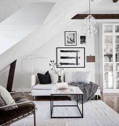 Dreamy Scandinavian attic studio