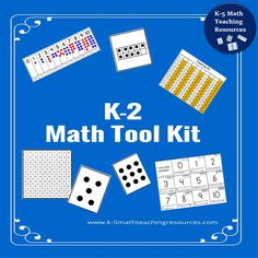 K-2 Math Tool Kit includes 100 charts, number lines (0-20 and 0-30), dot cards, five frames, ten frames, place value mats, coin mat, numeral handwriting reference sheet and more!