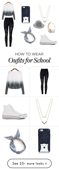 """Laid Back School Winter"" by shannonyehl on Polyvore featuring Kate Spade, Michael Kors, Converse, Beats by Dr. Dre, women's clothing, women, female, woman, misses and juniors"
